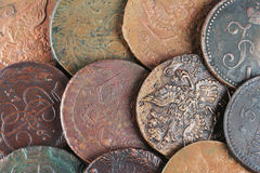 Ancient Russian Coins Stock Photography