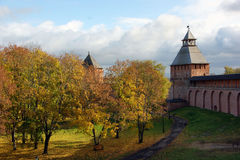 Ancient Russian fortress Royalty Free Stock Images