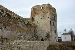 Ancient Russian fortress- Izborsk fortress royalty free stock photography