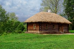 Ancient Russian log hut Royalty Free Stock Photo