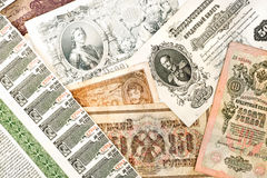 Ancient russian money Stock Image