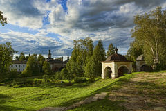 The Ancient Russian northern monastery Stock Image