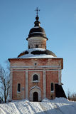 Ancient russian orthodox church in winter Stock Photography