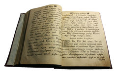 Ancient Russian printed book Royalty Free Stock Image
