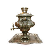 Ancient Russian samovar. Isolated on white background Stock Photography