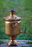 Ancient Russian samovar.  device for making tea. Royalty Free Stock Photo
