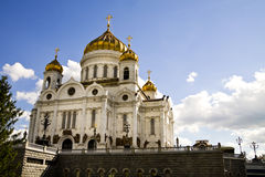 Ancient russian temple in Moscow city. Stock Photography