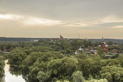 The ancient Russian town  Borovsk in July . Stock Photo