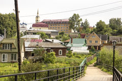 The ancient Russian town  Borovsk in July Royalty Free Stock Photos