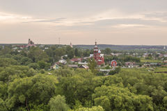 The ancient Russian town  Borovsk in July . Stock Images