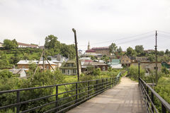 The ancient Russian town  Borovsk in July Stock Images