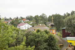 The ancient Russian town  Borovsk in July Royalty Free Stock Images