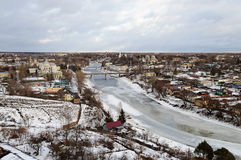 Ancient russian town Torzhok in winter time Stock Images