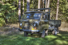 Ancient russian vehicle with a box Royalty Free Stock Image