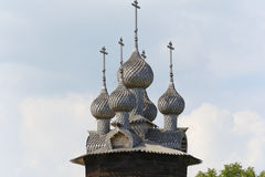 Ancient Russian wooden church Royalty Free Stock Photos
