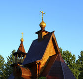 Ancient russian wooden church Royalty Free Stock Image