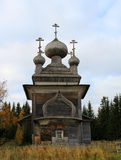 Ancient Russian wooden Church. Very old wooden Church built without nails royalty free stock photography