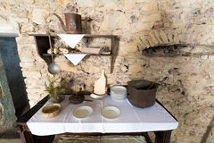 Ancient rustic kitchen Stock Images