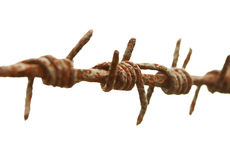 Ancient rusty barbed wire Royalty Free Stock Image