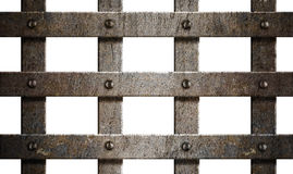 Ancient rusty grunge metal bars isolated Stock Photography
