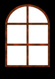 Ancient rusty window. Illustrated ancient rusty window in black background Royalty Free Stock Images