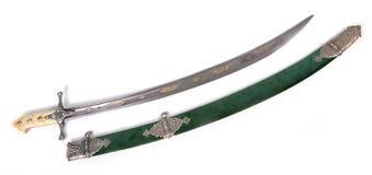 Ancient sabre. stock photos