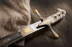 Ancient sabre Royalty Free Stock Photo