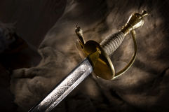 Ancient sabre. A smart variant of the fighting weapon Royalty Free Stock Image