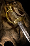 Ancient sabre. A smart variant of the fighting weapon Stock Photos