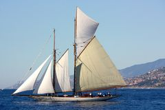 Ancient sailing boat in the Panerai Classic Yachts Royalty Free Stock Image