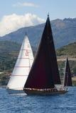 Ancient sailing boat during a regatta at the Panerai Classic Yac Stock Photos