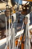 Ancient sailing boat during a regatta at the Panerai Classic Yac Royalty Free Stock Images