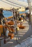 Ancient sailing boat during a regatta at the Panerai Classic Yac Stock Image
