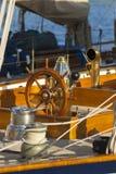 Ancient sailing boat during a regatta at the Panerai Classic Yac Stock Photography