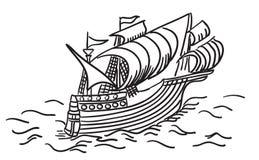 Ancient Sailing Ship. Illustration Royalty Free Illustration