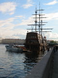 Ancient sailing ship in St. Petersburg Royalty Free Stock Photo