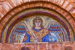 Ancient Saint Michael Mosaic Mikhaylovsky Church Kiev Ukraine. Ancient Saint Michael Mosaic Mikhaylovsky Church Vydubytsky Monastery Kiev Ukraine.  Vydubytsky Royalty Free Stock Image