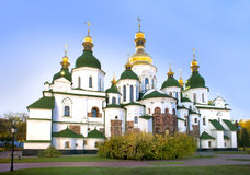 Ancient Saint Sophia cathedral in Kiev in fall Stock Photos