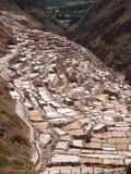 Ancient Salt basins Stock Photos