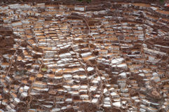 Ancient Salt Basins at Maras, Peru Royalty Free Stock Photography