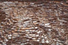 Ancient Salt Basins at Maras, Peru Royalty Free Stock Photography