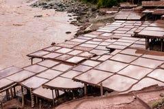 Ancient salt pan. In Tibet, China Stock Photos