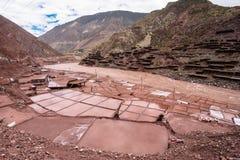 Ancient salt pan. In Tibet, China Stock Photo