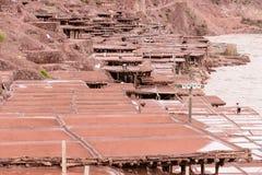 Ancient salt pan. In Tibet, China Royalty Free Stock Photography