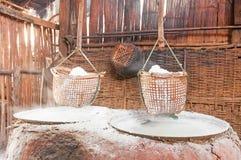 Ancient salt pot Royalty Free Stock Photography