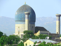The ancient Samarkand and young Stock Photo