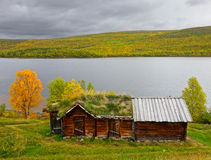 Ancient sami house Stock Images
