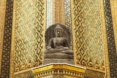 The ancient sandstone buddha statue Stock Images