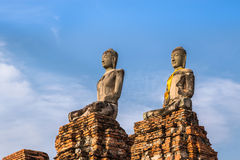 Ancient sandstone buddha statues Stock Images