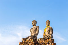 Ancient sandstone buddha statues Royalty Free Stock Photos